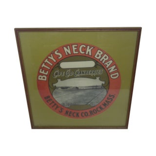 Betty's Neck Brand, Cape Cod Cranberries Poster For Sale