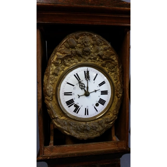 Antique 19th Century French Grandfather Clock (Morbier) For Sale - Image 10 of 13