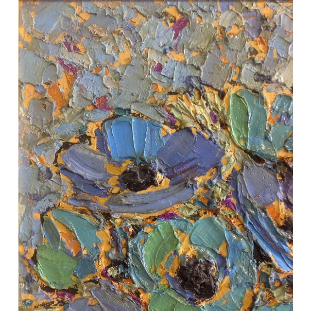 1950s Floral Still Life Oil Painting by Sonia Mitrovich For Sale - Image 5 of 7