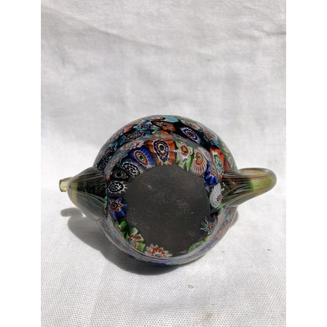 Murano Milleflora Teapot Paperweight For Sale In New Orleans - Image 6 of 8