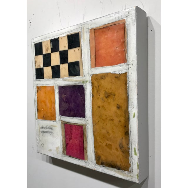 """2010s Gina Cochran """"Necessity of Play No. 8"""" Encaustic Collage Painting For Sale - Image 5 of 9"""