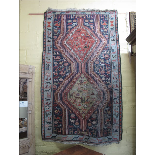 Antique Animal Motif Tabriz Tribal Rug - 4' X 6'11 - Image 2 of 11