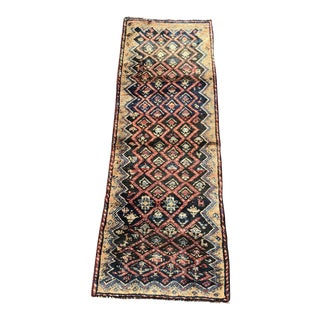 "Vintage Persian Kurdish Short Runner Rug - 2'6""x7' For Sale"