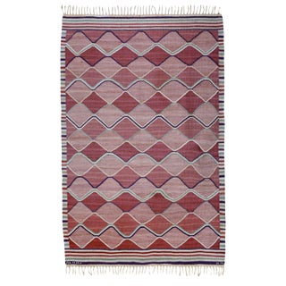 Vintage Barbro Nilsson Flat-Weave Swedish Carpet for Marta Maas-Fjetterström