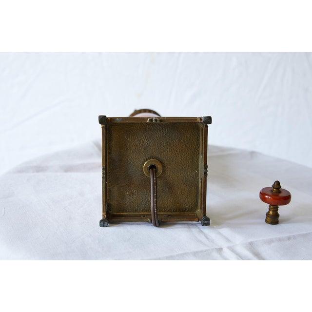 Petite Art Deco Lamp of Orange Bakelite For Sale - Image 12 of 13