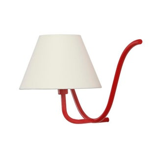 Jean Royère Style Ondulation I Wall Light in Red Preview