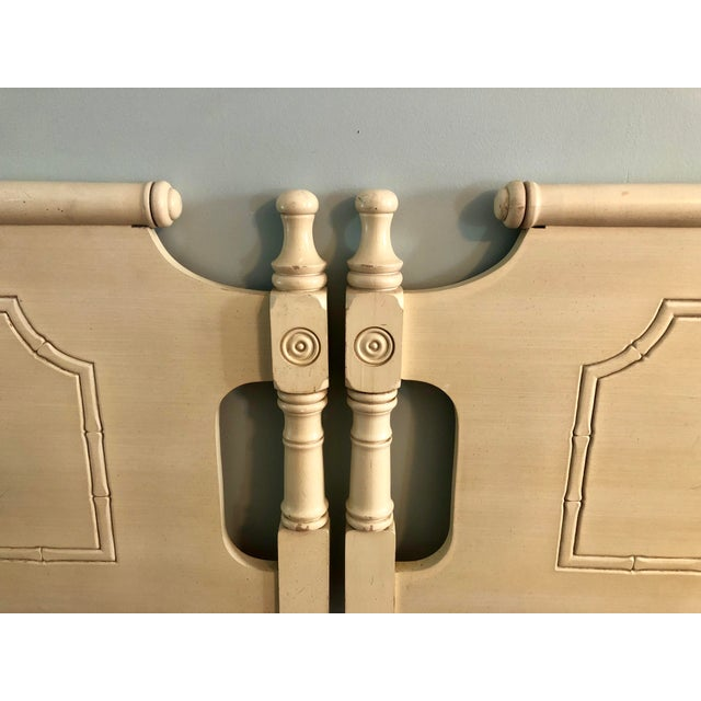 Adorable twin headboards. Palm Beach Regency! Pagoda top, faux bamboo details. They are great as is for a vintage boho...