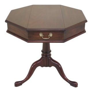 1980s Queen Anne Henkel Harris Mahogany Octagonal Jefferson Table For Sale