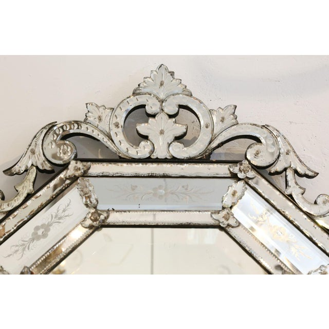 Octagonal Venetian Mirror For Sale - Image 10 of 12