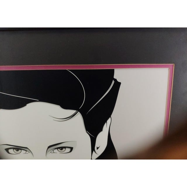 Mid-Century Modern Late 20th Century Patrick Nagel Framed and Matted For Sale - Image 3 of 4