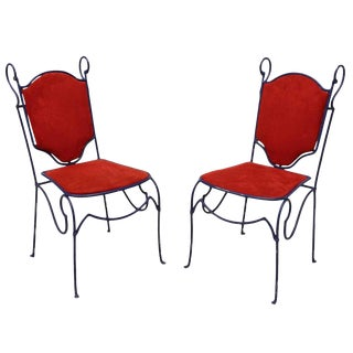 1950s Vintage Italian Garden Chairs- a Pair For Sale
