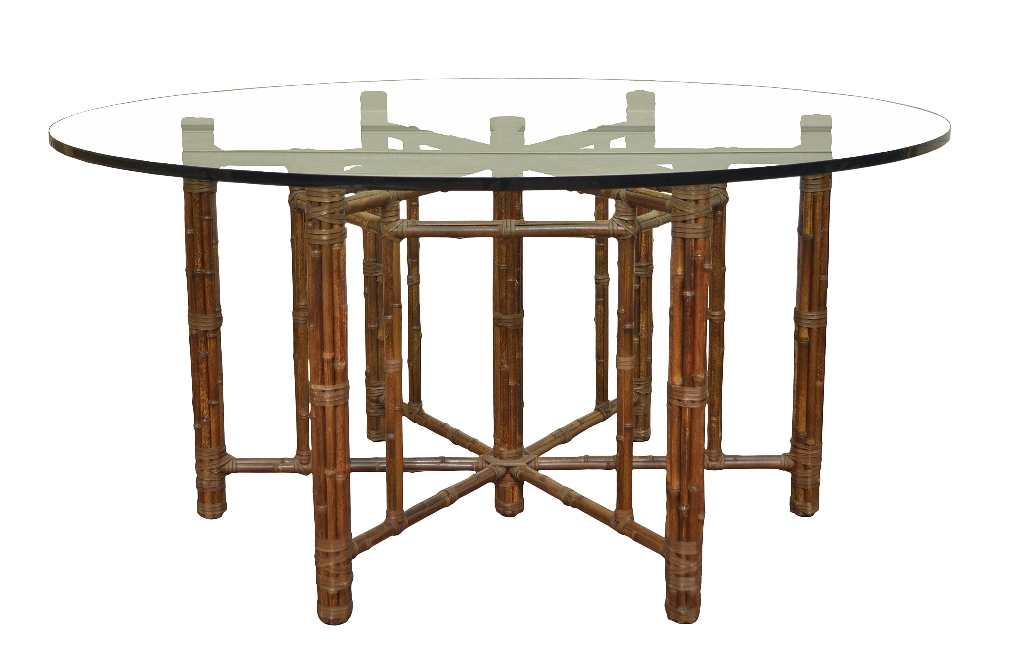 McGuire Round Bamboo Dining Table