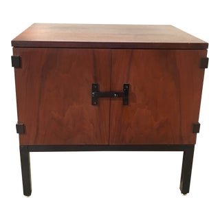 1960s Mid-Century Modern Milo Baughman for Directional Walnut Nightstand For Sale