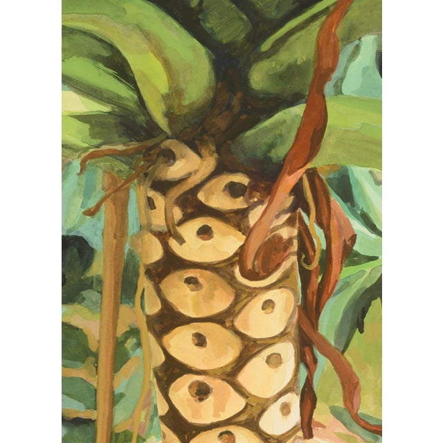 """Laurie Flaherty Laurie Flaherty """"Reflection"""" Contemporary Flora and Fauna Gouache Painting For Sale - Image 4 of 7"""