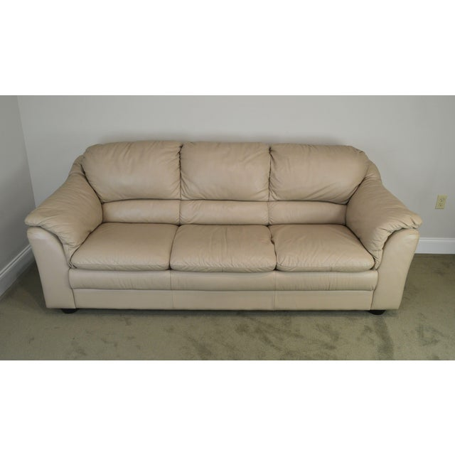 Natuzzi Italian Modern Leather Vintage Sofa