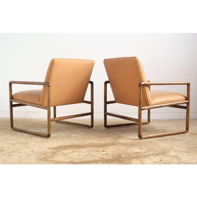Pair of Ward Bennett Lounge Chairs by Brickel For Sale In Chicago - Image 6 of 10