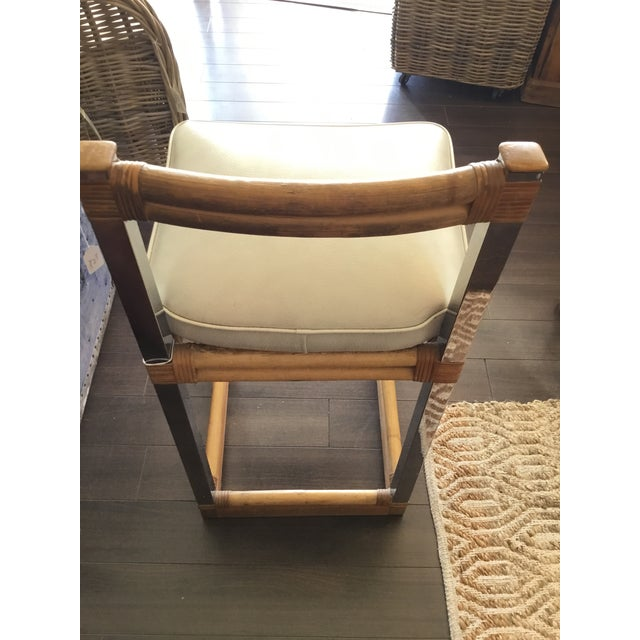 Mid-Century Modern Bamboo Chrome and Leather Counter Stools - a Pair For Sale - Image 11 of 13