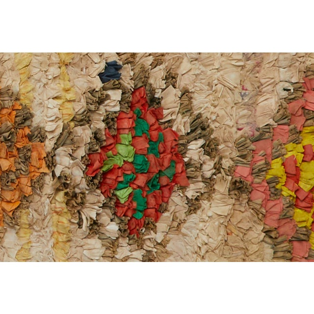 Islamic Moroccan Boucherouite Rug For Sale - Image 3 of 4