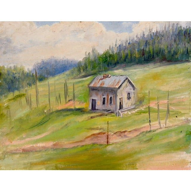 Impressionist Gallery Wall Group of Rustic Landscape Paintings - Set of 3 For Sale - Image 3 of 5