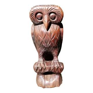 Vintage Hand Carved Kashmiri Owl For Sale