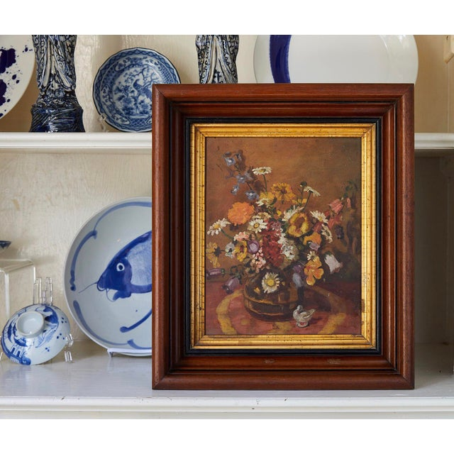 Impressionistic Still Life of Wildflowers and Duck Figurine For Sale - Image 12 of 12