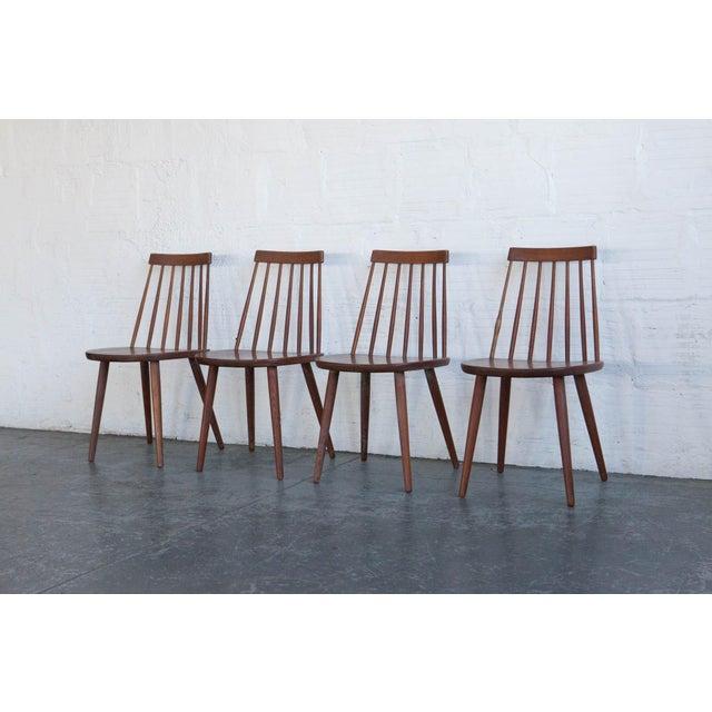 Teak Yngve Ekström Swedish Spindleback Teak Dining Chairs - Set of 4 For Sale - Image 7 of 10