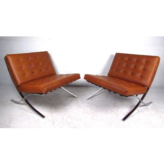 Vintage Modern Barcelona Chairs in the Style of Mies Van Der Rohe Preview