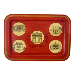Mottahedeh Tole Architectural Tray For Sale