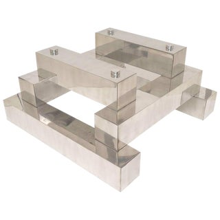 Paul Mayen Stainless Steel Cocktail Table Base For Sale