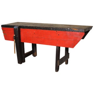 Carpenter's-Bench Sofa Table For Sale