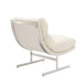 Scoop Chrome Lounge Chair New Upholstery For Sale