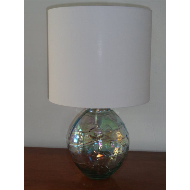 Art Glass Iridescent Table Lamp - Image 2 of 4