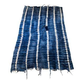Boho Chic Van Verre Indigo Dyed Throw For Sale