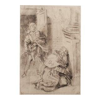 Delacroix Hamlet & Claudius 1959 Lithograph