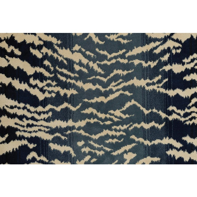 2010s Stark Studio Rugs Tabby Blue Sample For Sale - Image 5 of 5