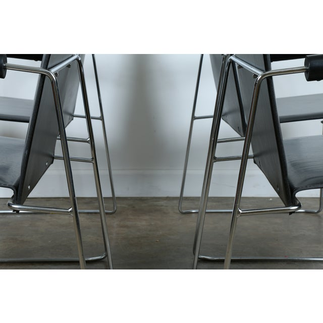 Arrben Italy Arm Chairs - Set of 4 - Image 5 of 11