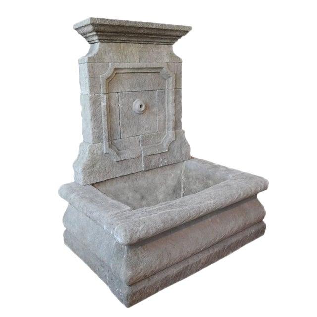 Limestone Wall Fountain - Image 1 of 6