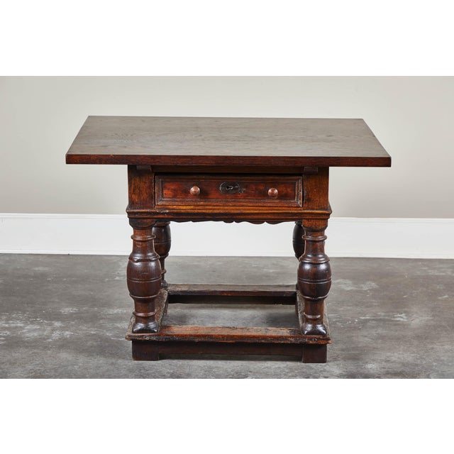18th Century Danish Baroque Table With Turned Legs For Sale In Los Angeles - Image 6 of 10