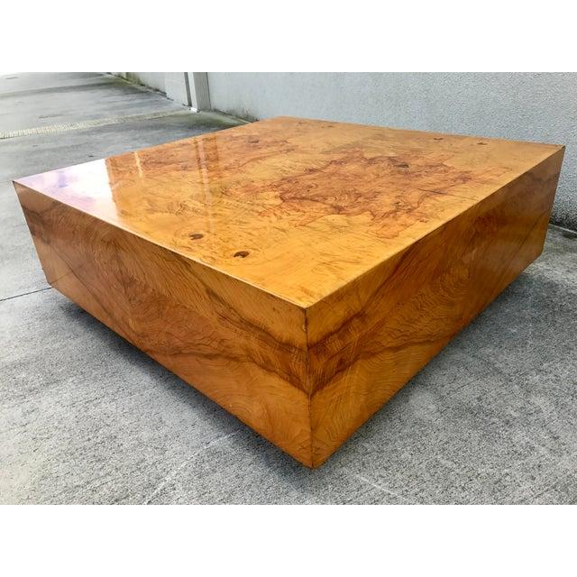 Milo Baughman Burl Wood Coffee Table Chairish