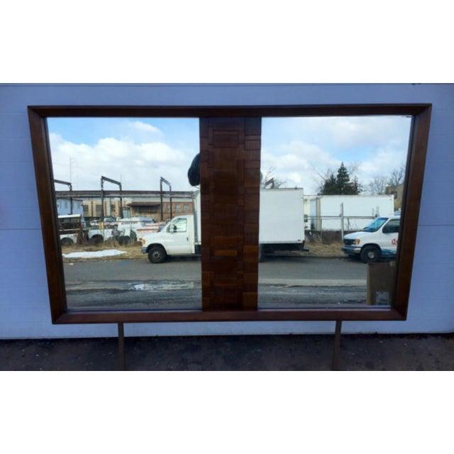 Lane Mid-Century Brutalist Style Mirror - Image 5 of 6