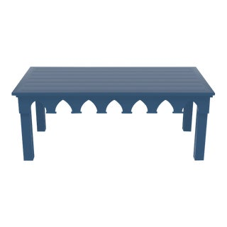 Oomph Ocean Drive Rectangle Outdoor Coffee Table, Blue For Sale