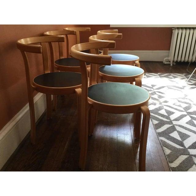 Tan Vintage Rud Thygesen & Johhny Sørensen Model 802 Chairs - Set of 6 For Sale - Image 8 of 8