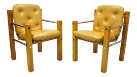 Image of Oak Lounge Chairs