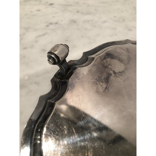 Antique Old Sheffield Silver Plate Tray For Sale In New York - Image 6 of 10