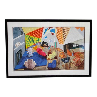 """Large Interior, Los Angeles, 1988"" David Hockney Print For Sale"