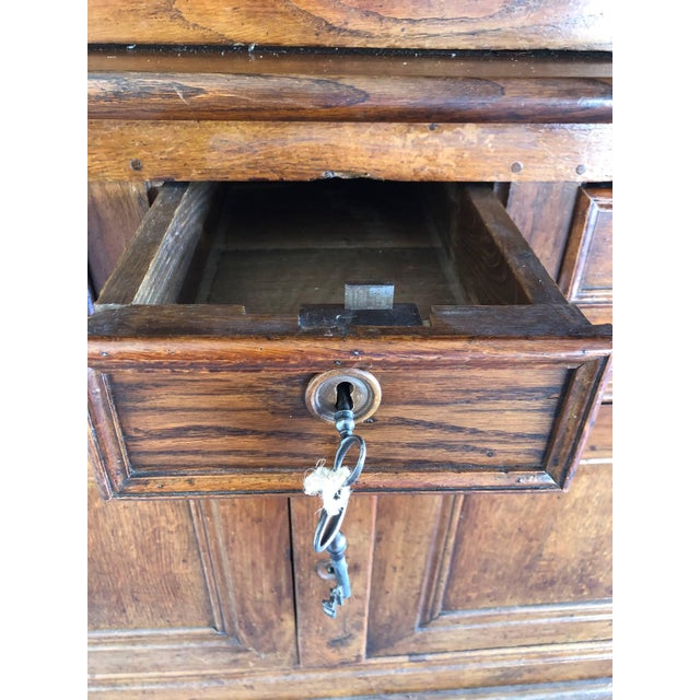 French 19th Century Walnut Deux Corps Buffet Cabinet For Sale In Naples, FL - Image 6 of 13