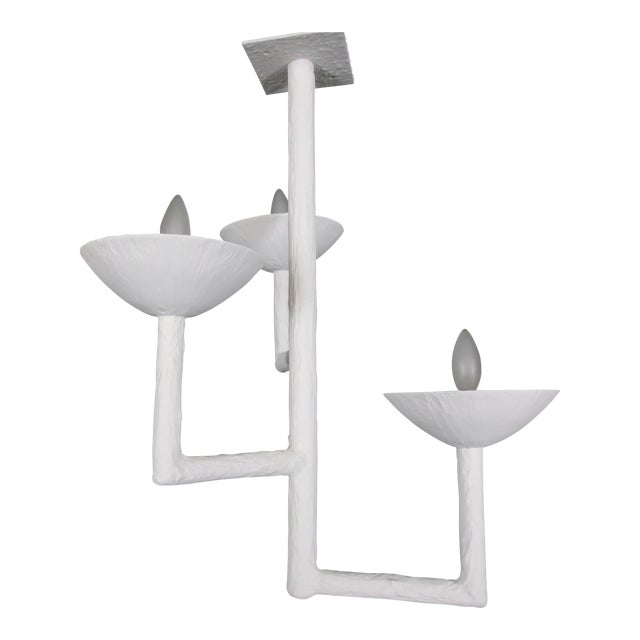 sports shoes 21838 0e5fe High-End 3 Cup Plaster Chandelier With White Finish | DECASO