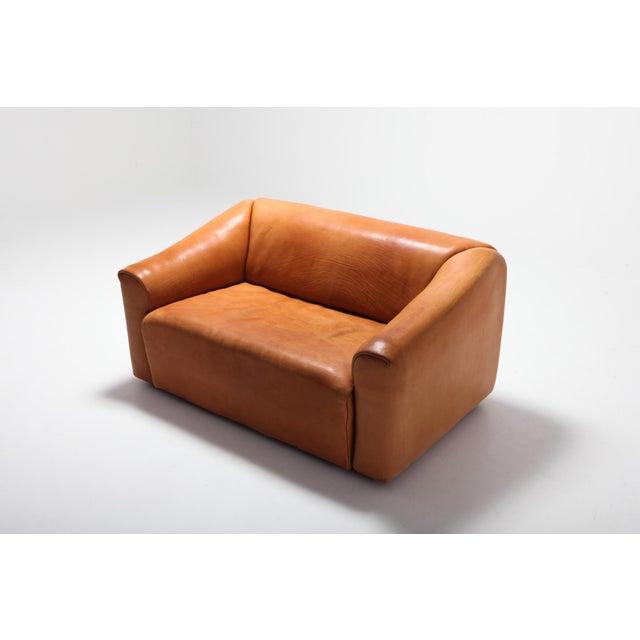 De Sede Ds 47 Cognac Leather Sofa For Sale - Image 6 of 12