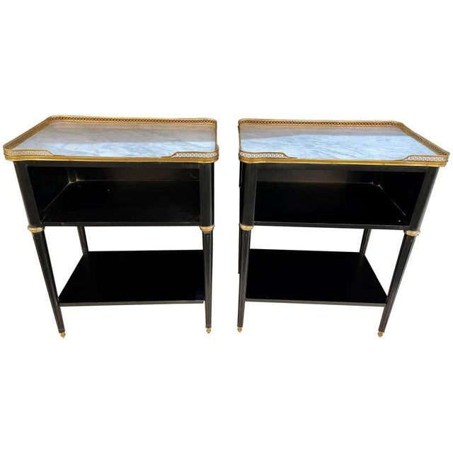 Pair of Hollywood Regency Nightstands or End Tables in the Manner of Jansen For Sale - Image 13 of 13