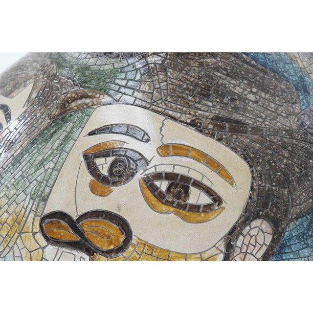 Large Pablo Picasso Mosaic Ceramic Vase For Sale In Dallas - Image 6 of 11